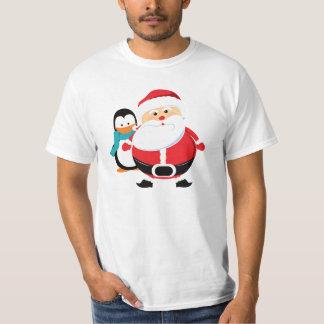 Camiseta de Père Noël y de Manchot Papá Noel Polera
