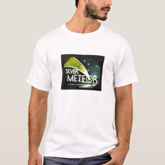 Camiseta de plata de la muestra del ferrocarril