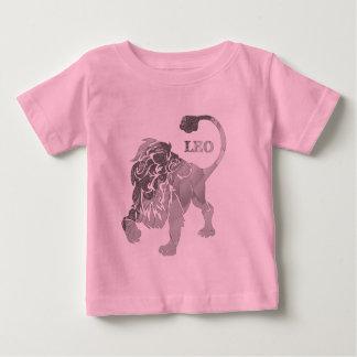 Camiseta de plata del niño del zodiaco del león de playera
