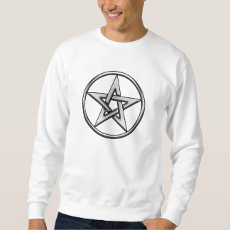 Camiseta de plata del Pentagram 2 Pulóver Sudadera