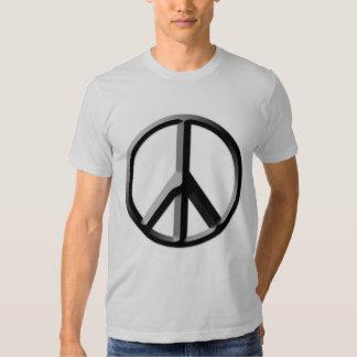 Camiseta de plata del signo de la paz camisas