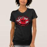 Camiseta de plata negra roja de la estrella del ro