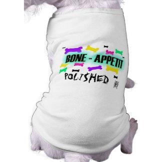 "Camiseta de POLI$HED POOCHIE- ""BONE-APPETIT"" Playera Sin Mangas Para Perro"