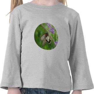 Camiseta de polinización del niño de la mariposa