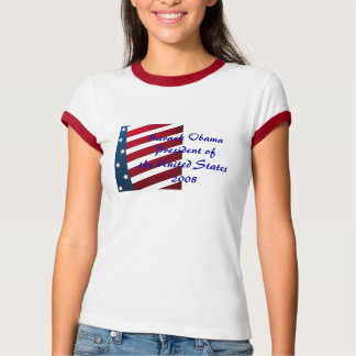 Camiseta de presidente Ringer de Barack Obama Playeras