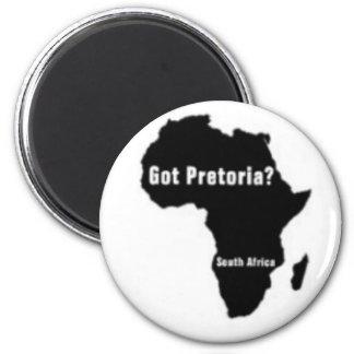 Camiseta de Pretoria Suráfrica y etc Imán Redondo 5 Cm