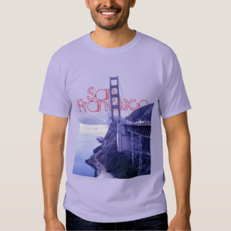 Camiseta de puente Golden Gate de San Francisco Poleras