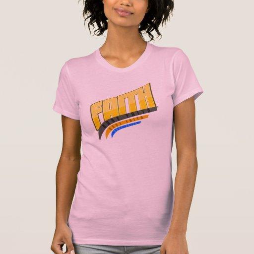 Camiseta de Racerback de las mujeres de la fe