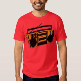 camiseta de radio retra de Boombox de la escuela Poleras