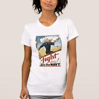 Camiseta de reclutamiento de la marina de guerra playera