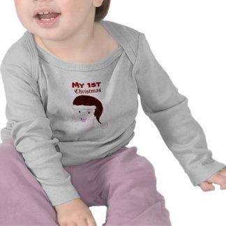 Camiseta de risa del bebé de Santa (roja)