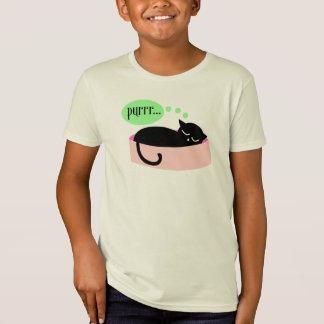 Camiseta de ronroneo del gato - niños