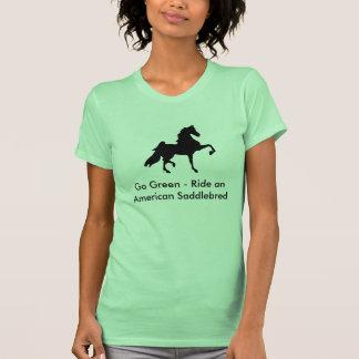 Camiseta de Saddlebred del americano - va el verde