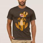 Camiseta de salto del canguro del dibujo animado
