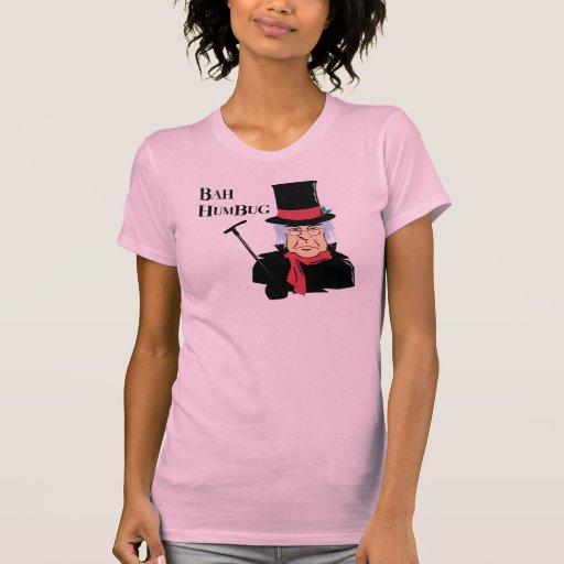 Camiseta de Scrooge del embaucamiento de Bah Poleras