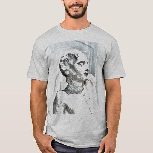 Camiseta de Scultpure del busto de Rodin