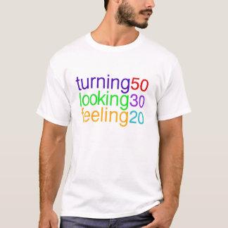 Camiseta de sensación de mirada de torneado 50 30