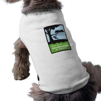 Camiseta de SF RPD para el perrito en blanco Playera Sin Mangas Para Perro