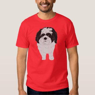 Camiseta de Shih-Tzu (frente y extremo) Poleras