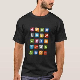 Camiseta de Smartphone con los iconos coloridos