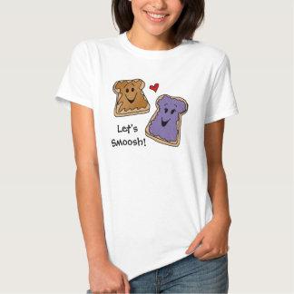 Camiseta de Smoosh de la mantequilla y de la jalea Poleras