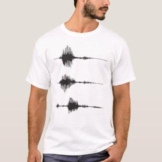 Camiseta de Soundwaves de los registradores de la