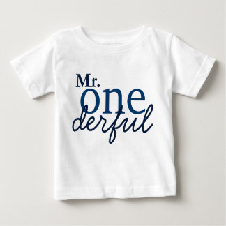 Camiseta de Sr. Onederful Baby Poleras