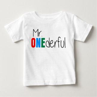 Camiseta de Sr. Onederful Wonderful Kids Birthday Playera Para Bebé