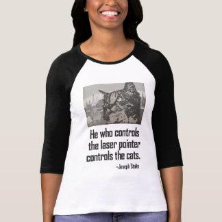 Camiseta de Stalin del gato del indicador del