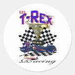 Camiseta de T-Rex Pegatina Redonda