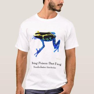 Camiseta de teñido de la rana del dardo del veneno