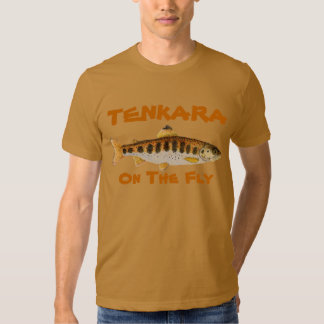 Camiseta de Tenkara con la trucha de Amago Polera