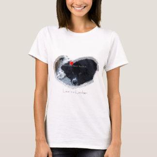 Camiseta de Terranova del landseer del corazón I