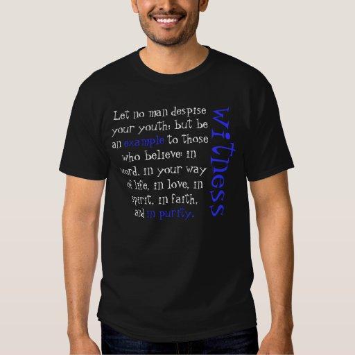 Camiseta de Timothy del verso 1 de la biblia Playera