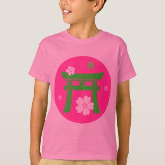Camiseta de Torii (verde y rosa)