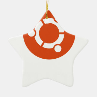 Camiseta de Ubuntu Linux Adorno Navideño De Cerámica En Forma De Estrella