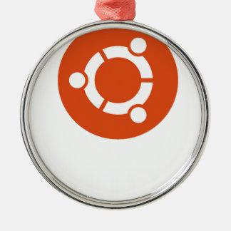 Camiseta de Ubuntu Linux Adorno Navideño Redondo De Metal