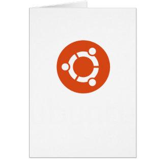 Camiseta de Ubuntu Linux Tarjeta De Felicitación