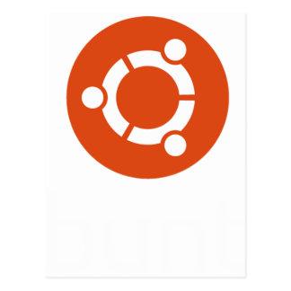 Camiseta de Ubuntu Linux Tarjeta Postal