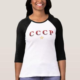 Camiseta de URSS del vintage para las señoras Poleras