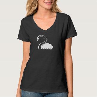 Camiseta de V-neck de capitán Swan Flag Women's Playera