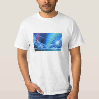 Camiseta de vagabundeo del lobo playera