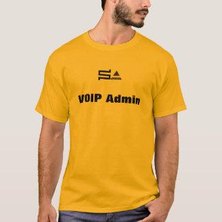 camiseta de VOIP Admin del sysadmin del ordenador
