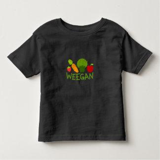 Camiseta de Weegan del niño - oscuridad
