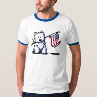 Camiseta de Westie de la bandera de los E.E.U.U. Playeras