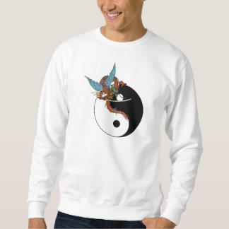 Camiseta de Ying Yang del dragón Sudadera Con Capucha