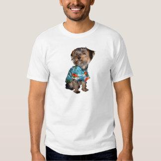 Camiseta de Yorkie de la camisa hawaiana