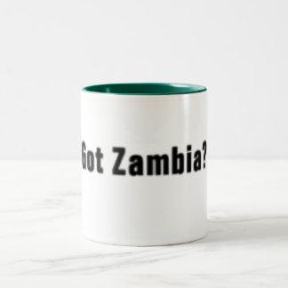 Camiseta de Zambia (conseguida Zambia) y etc Taza De Dos Tonos