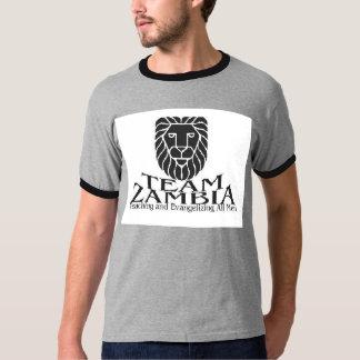 Camiseta de Zambia del EQUIPO del gris/del negro Playera