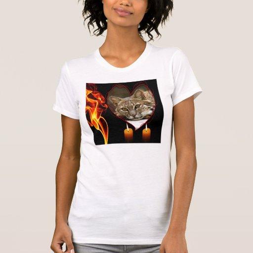 Camiseta decorativa del lince